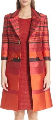 St. John Metallic Stripe Jacquard Jacket