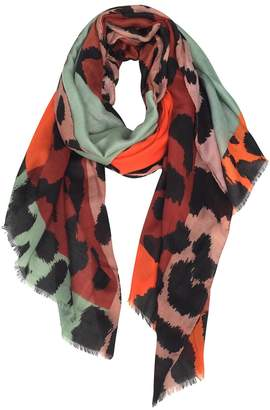 GERINLY Women's Scarves: Colorful Leopard Print Oblong Wrap Scarf
