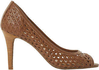 Dune Carding Open Toe Woven Court Shoes