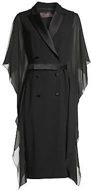 Max Mara Women's Palomba Chiffon Sleeve Tuxedo Dress