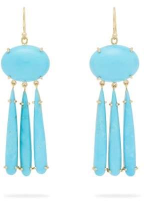 Irene Neuwirth 18kt Gold & Turquoise Drop Earrings - Womens - Blue