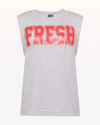 Juicy Couture Jxjc Fresh Cutoff Graphic Muscle Tank