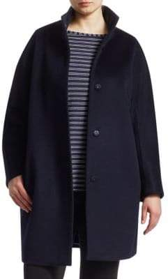 Marina Rinaldi Marina Rinaldi, Plus Size Wool Button-Front Coat