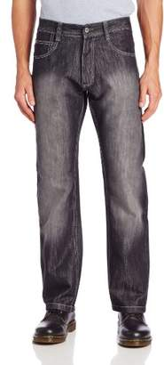 Southpole Men's 4180 Relaxed Fit Shiny Streaky in, Black S&, 32X30