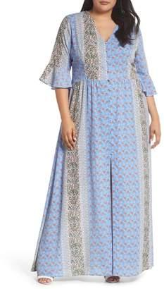 Glamorous Button Front Maxi Dress