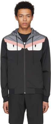 Fendi Reversible Black and Grey Bag Bugs Jacket