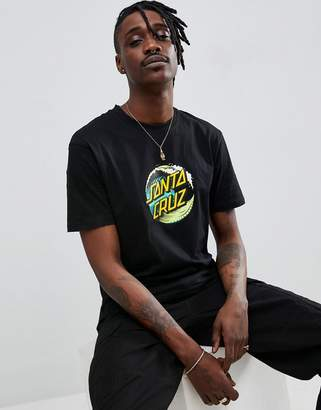 Santa Cruz Wave dot t-shirt in black