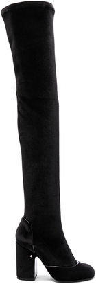 Laurence Dacade Velvet Madison Boots $1,120 thestylecure.com