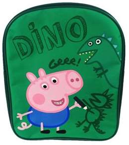 Peppa Pig George Dino Pv School Bag Rucksack Backpack One Size