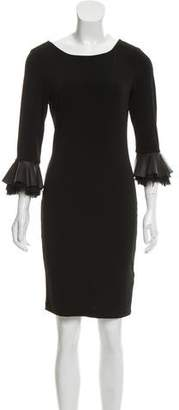 Alice + Olivia Leather-Accented Mini Dress