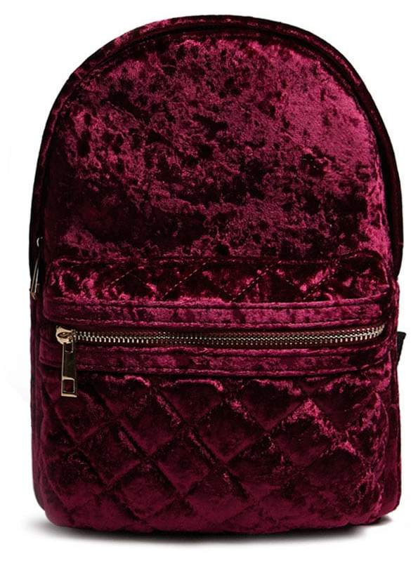 Forever 21 Crushed Velvet Backpack