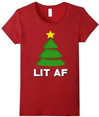 Lets get Lit Christmas Tree Shirt Trendind Novelty