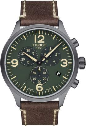 Tissot Chrono XL Leather Strap Chronograph Watch, 45mm