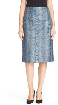 Women's Rebecca Taylor Snakeskin Print Skirt $495 thestylecure.com