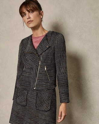 Ted Baker JULIO Boucle biker jacket