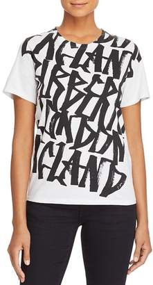 Burberry Cimarron Graphic-Print Plaid-Back Tee
