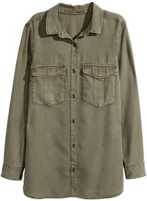 H&M Lyocell Utility Shirt - Green