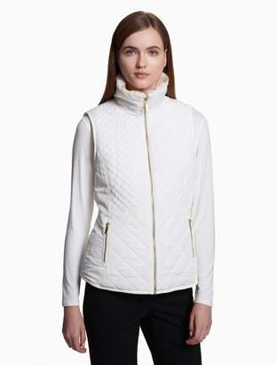Calvin Klein reversible faux fur vest