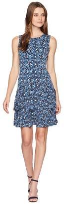 MICHAEL Michael Kors Woodblock Sleeveless Flounce Dress Women's Dress
