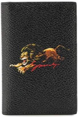 Givenchy lion print bifold cardholder