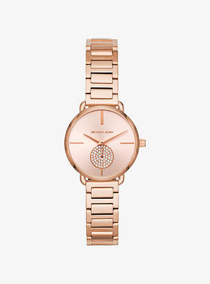 Michael Kors Petite Portia Rose Gold-Tone Watch