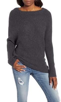 Caslon Asymmetrical Rib Knit Sweater