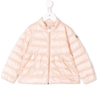 Moncler logo plaque padded jacket