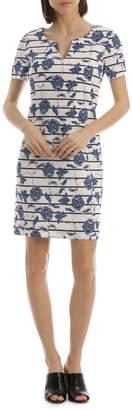Blend of America Short Sleeve Linen Shift Dress