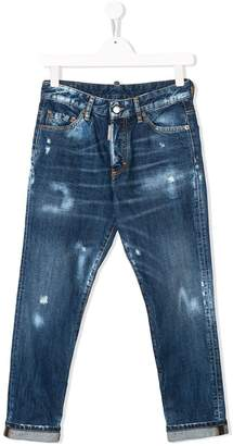 DSQUARED2 TEEN distressed detail jeans