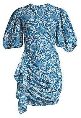 Rhode Resort Women's Pia Tapestry Print Puff Sleeve Mini Dress