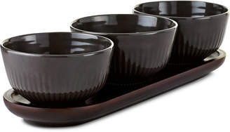 Hotel Collection Set of 3 Bowls with Wood Tray, Created for Macy's