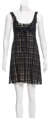 Chanel Sheer Plaid Dress
