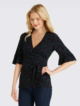 Draper James Winter Berry Wrap Blouse