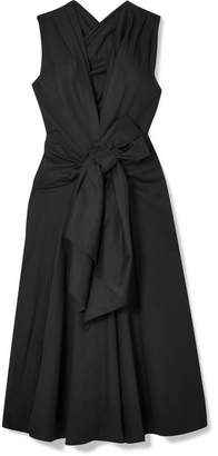 Tome Bow-embellished Cotton-blend Faille Dress - Black