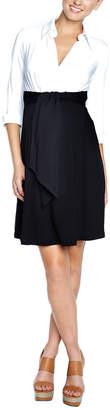 Maternal America Tie-Front Dress