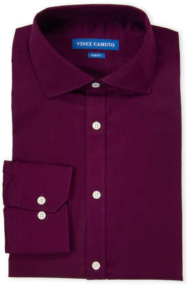 Vince Camuto Plum Slim Fit Comfort Stretch Dress Shirt