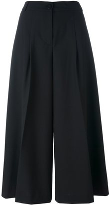 Twin-Set wide leg cropped pants $152.71 thestylecure.com