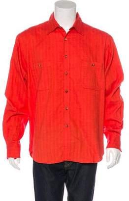 Turnbull & Asser Tonal Herringbone Shirt
