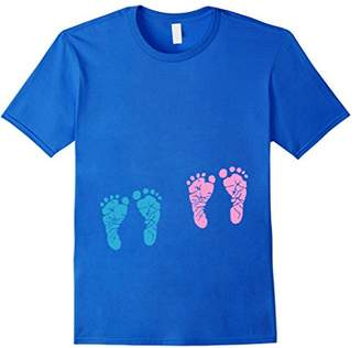 Pregnant Fraternal Twins Baby Feet Kicking Belly T Shirt