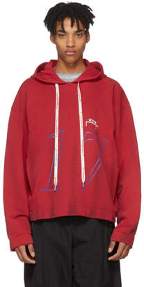 A-Cold-Wall* Red H3 Hoodie