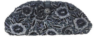Santi Gunmetal Feather Clutch