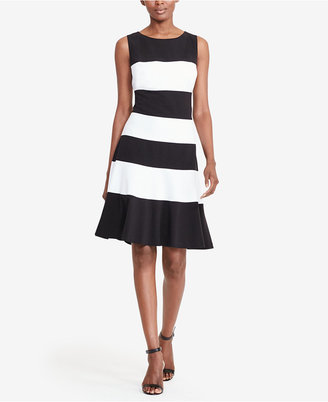 Lauren Ralph Lauren Striped Fit & Flare Dress $130 thestylecure.com