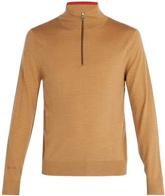 Paul Smith High-neck half-zip merino-wool sweater