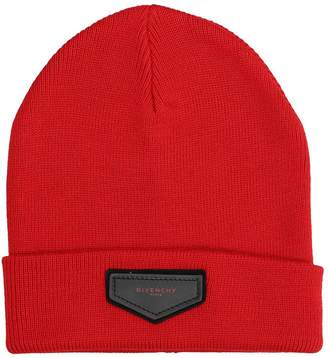 Givenchy Red Wool Beanie