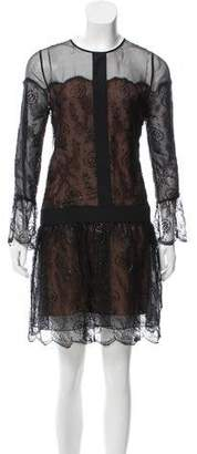 Chloé Lace-Trimmed Mini Dress