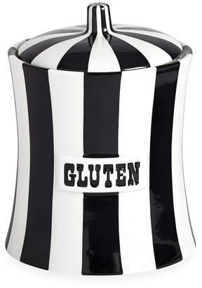 Jonathan Adler Vice Canister - Gluten - Black/White