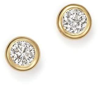 KC Designs 14K Yellow Gold Diamond Bezel Stud Earrings