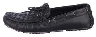 Bottega Veneta Leather Intercciato Loafers black Leather Intercciato Loafers