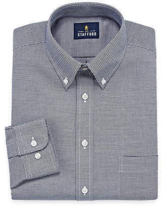 STAFFORD Stafford Travel Wrinkle-Free Oxford Long-Sleeve Dress Shirt
