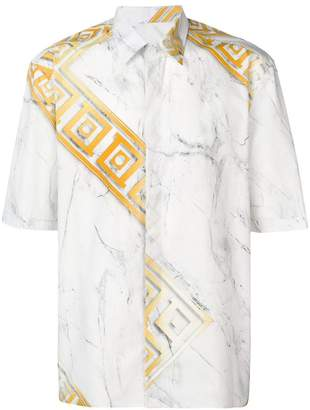 Versace greek key print shirt